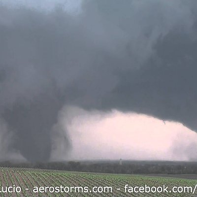 Pilger Twin EF-4 Tornadoes. Town Being Impacted June 16th 2014