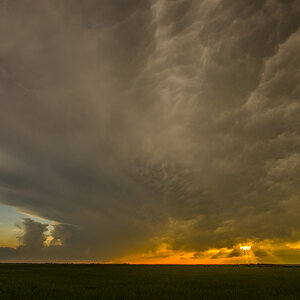 Sunset Supercell Near Crowell Texas 3 years ago