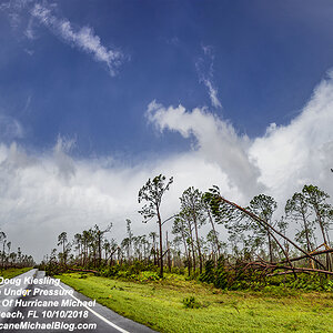 Grace Under Pressure, Wide Pano in the eye of Hurricane Michael